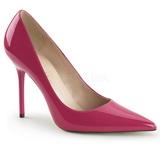 Pink Lackerade 10 cm CLASSIQUE-20 spetsiga pumps med stilettklackar