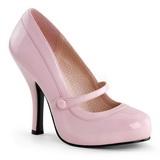 Pink Lackerade 12 cm CUTIEPIE-02 Dam pumps med låg klack