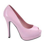 Pink Lackerade 13,5 cm BELLA-12 Dam Pumps Stilettskor