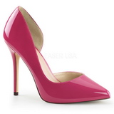 Pink Lackerade 13 cm AMUSE-22 Klassiska Pumps Klackskor Dam