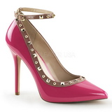 Pink Lackerade 13 cm AMUSE-28 Klassiska Pumps Klackskor Dam