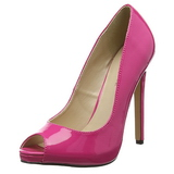 Pink Lackerade 13 cm SEXY-42 Klassiska Pumps Klackskor Dam
