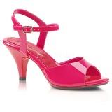 Pink Lackerade 8 cm BELLE-309 Höga Klackar Skor för Män