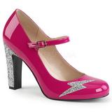 Pink Lackläder 10 cm QUEEN-02 stora storlekar pumps skor