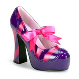Pink Lila 13 cm KITTY-32 damskor med h�g klack
