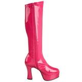 Pink Shiny 11 cm Funtasma EXOTICA-2000 Platform Knee Boots