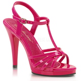 Pink Shiny 12 cm FLAIR-420 Womens High Heel Sandals