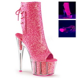 Pink glitter 18 cm ADORE-1018G womens platform soled ankle boots