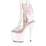 Pink glitter 18 cm UNICORN-1018C Pole dancing ankle boots