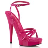 Pink lack sandaler 15 cm SULTRY-638 platå högklackat sandaler