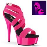 Pink neon 15 cm DELIGHT-669UV pole dance skor
