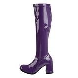 Purple Patent 7,5 cm Funtasma GOGO-300 Women Knee Boots