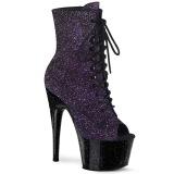 Purple glitter 18 cm ADORE-1021MBG Pole dancing ankle boots