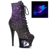 Purple glitter 18 cm MOON-1020MER Pole dancing ankle boots