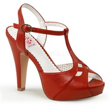 Red 11,5 cm retro vintage BETTIE-23 High Heeled Evening Sandals