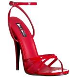 Red 15 cm DOMINA-108 fetish high heeled shoes