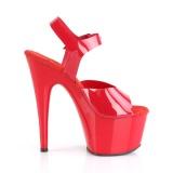 Red 18 cm ADORE-708N Platform High Heels Shoes