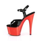 Red 18 cm ADORE-709 Chrome Platform High Heel