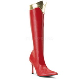 Red 9,5 cm WONDER-130 Women Knee High Boots