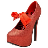 Red Glitter 14,5 cm Burlesque TEEZE-04G Womens Shoes with High Heels