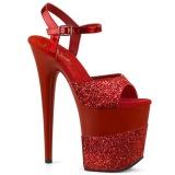 Red Glitter 20 cm FLAMINGO-809-2G High Heels Platform