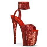 Red Glitter 20 cm FLAMINGO-891LG High Heels Platform