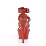 Red Leatherette 15 cm DELIGHT-658 pleaser shoes with high heels