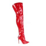 Red Patent 13 cm COURTLY-3012 Pleaser Overknee Boots