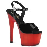 Red Patent 18 cm ADORE-709T platform pleaser sandals