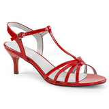Red Patent 6 cm KITTEN-06 big size sandals womens