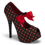 Red Points 14,5 cm Burlesque TEEZE-25 Black Platform Pumps Shoes