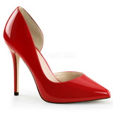 Red Shiny 13 cm AMUSE-22 Low Heeled Classic Pumps Shoes