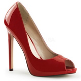 Red Shiny 13 cm SEXY-42 Low Heeled Classic Pumps Shoes