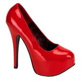 Red Shiny 14,5 cm BORDELLO TEEZE-06 Platform Pumps