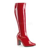 Red Shiny 9,5 cm FUNTASMA KIKI-350 Women Knee Boots