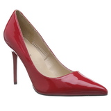 Red Varnished 10 cm CLASSIQUE-20 pointed toe stiletto pumps
