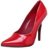 Red Varnished 10 cm VANITY-420 pointed toe pumps high heels