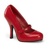 Red Varnished 12 cm retro vintage CUTIEPIE-02 mary jane pumps with hidden platform