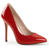 Red Varnished 13 cm AMUSE-20 Women Pumps Shoes Stiletto Heels