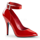 Red Varnished 13 cm SEDUCE-431 Pumps with low heels