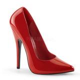 Red Varnished 15 cm DOMINA-420 pointed toe high heel stilettos