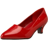 Red Varnished 5 cm FAB-420W Pumps with low heels