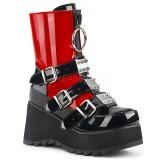 Red Vegan 9 cm SCENE-51 lolita ankle boots platform