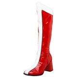 Red White 7,5 cm GOGO-305 Women Knee High Boots