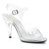 Rhinestones 10 cm CARESS-408SD high heeled sandals
