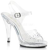Rhinestones 11,5 cm FLAIR-408SD high heeled sandals