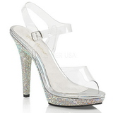 Rhinestones 13 cm LIP-108DM Womens Shoes with High Heels