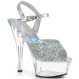 Rhinestones 15 cm Pleaser KISS-209RS high heeled sandals