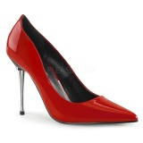 Röd 10 cm APPEAL-20 stiletter pumps med metallklack
