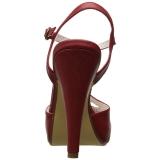 Röd 11,5 cm retro vintage BETTIE-23 Höga Fest Sandaler med Klack